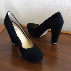 Michael Kors suede high heel shoes